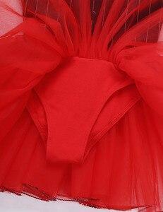 Image 5 - Costume de danse de cirque pour filles, Costume avec cravate de gymnastique, justaucorps de Ballet, jupes Tutu, robe de patinage artistique, de noël