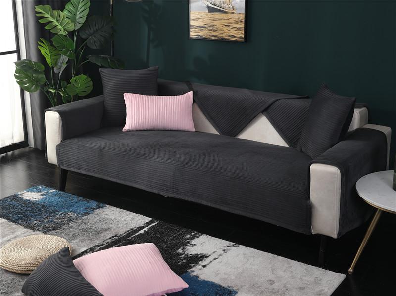 Покрывало для дивана из хлопка секционное покрывало черного
