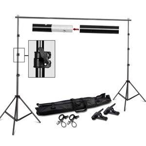Image 1 - Fotoğrafçılık 2*2M fotoğraf arkaplan standı destek sistemi kiti fotoğraf stüdyosu Muslin arka planında, kağıt ve tuval taşıma çantası ile