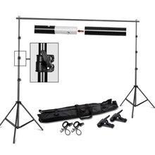 Fotografie 2*2M Foto Hintergrund Stehen Unterstützung System Kit für Foto Studio Muslin Kulissen, papier und Leinwand mit Trage Tasche