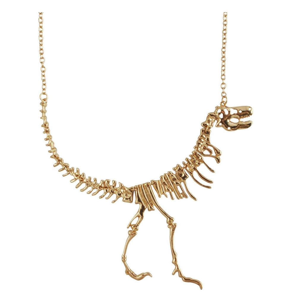 Dinosaur Vintage Necklace Short Collar Fashion Costume Jewelry for Women Teens