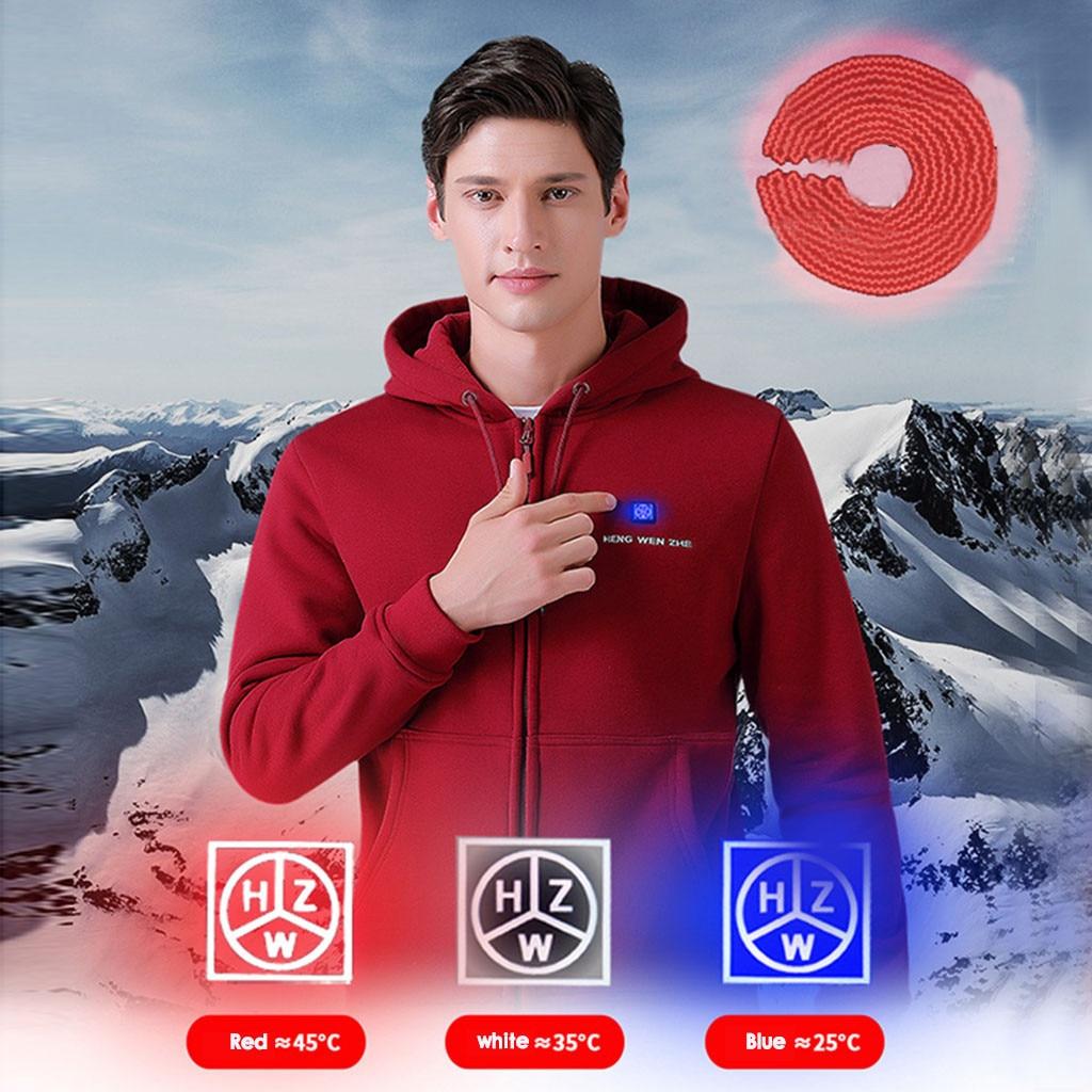 Winter Men's Smart USB Back Heating Hoodie худи Hoody Men Patchwork толстовка толстовки Warm Hoodies Top Free Shipping