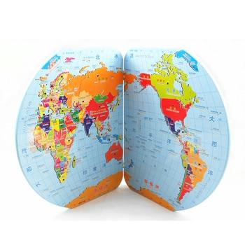 1 pièces puzzle carte du monde puzzle 3d drapeau national chine carte étudiant jouet