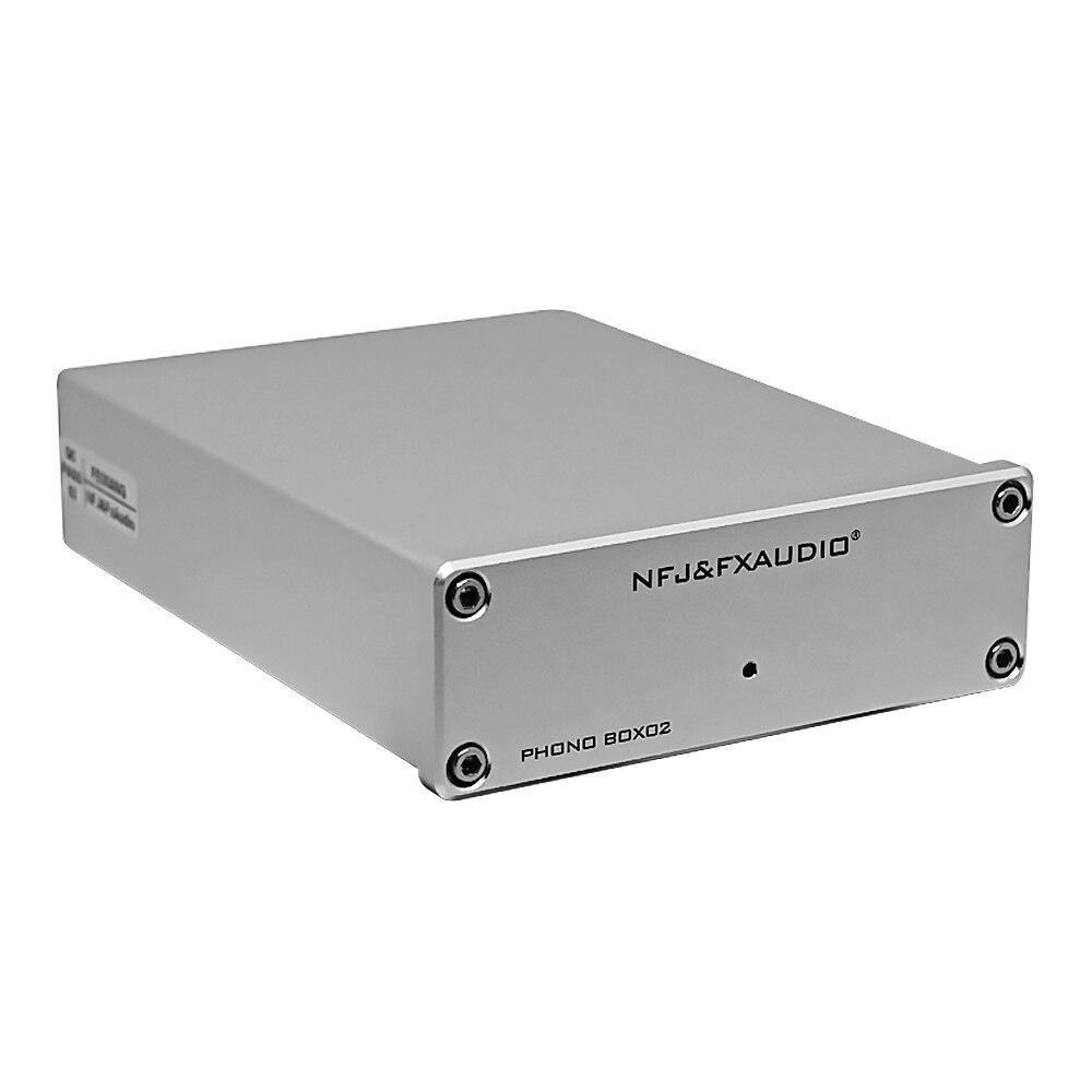 NFJ & FXAUDIO Phono préampli BOX02 LP lecteur de disque vinyle HIFI Mini MM/MC phonographe préamplificateur Audio amplificateurs pour Home cinéma