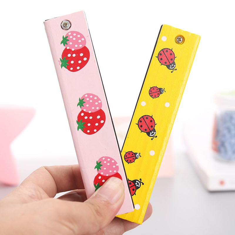 Children Wood Small Harmonica Creative Music Gift Kindergarten Young STUDENT'S Beginner Wind Instruments 16 Hole Hamonica