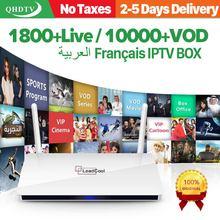 Code IPTV Subscription 1 Year QHDTV Leadcool Android 8.1 TV Box RK3229 1+8G IPTV France Belgium Netherlands Android Box IPTV недорого