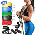 11pcs/Set Latex Resistance Bands Set Exercise Yoga Tube Pull Rope Fitness Sport Rubber Elastic Bands Muscle Strength Training