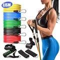 Эластичные ленты LISM 11 шт., латексные тренировочные, для кроссфита, упражнений для йоги, эластичные, с сумкой
