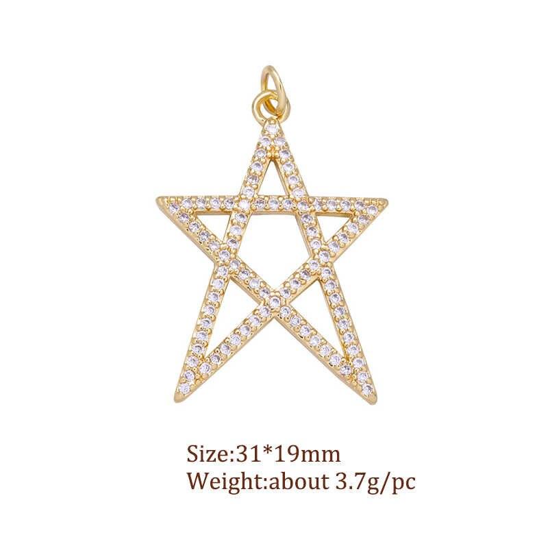JUYA moda yıldız ay çekicilik rozeti kolye kolye takı yapımı için lüks takılar nazar kolye malzemeleri bilezikler için