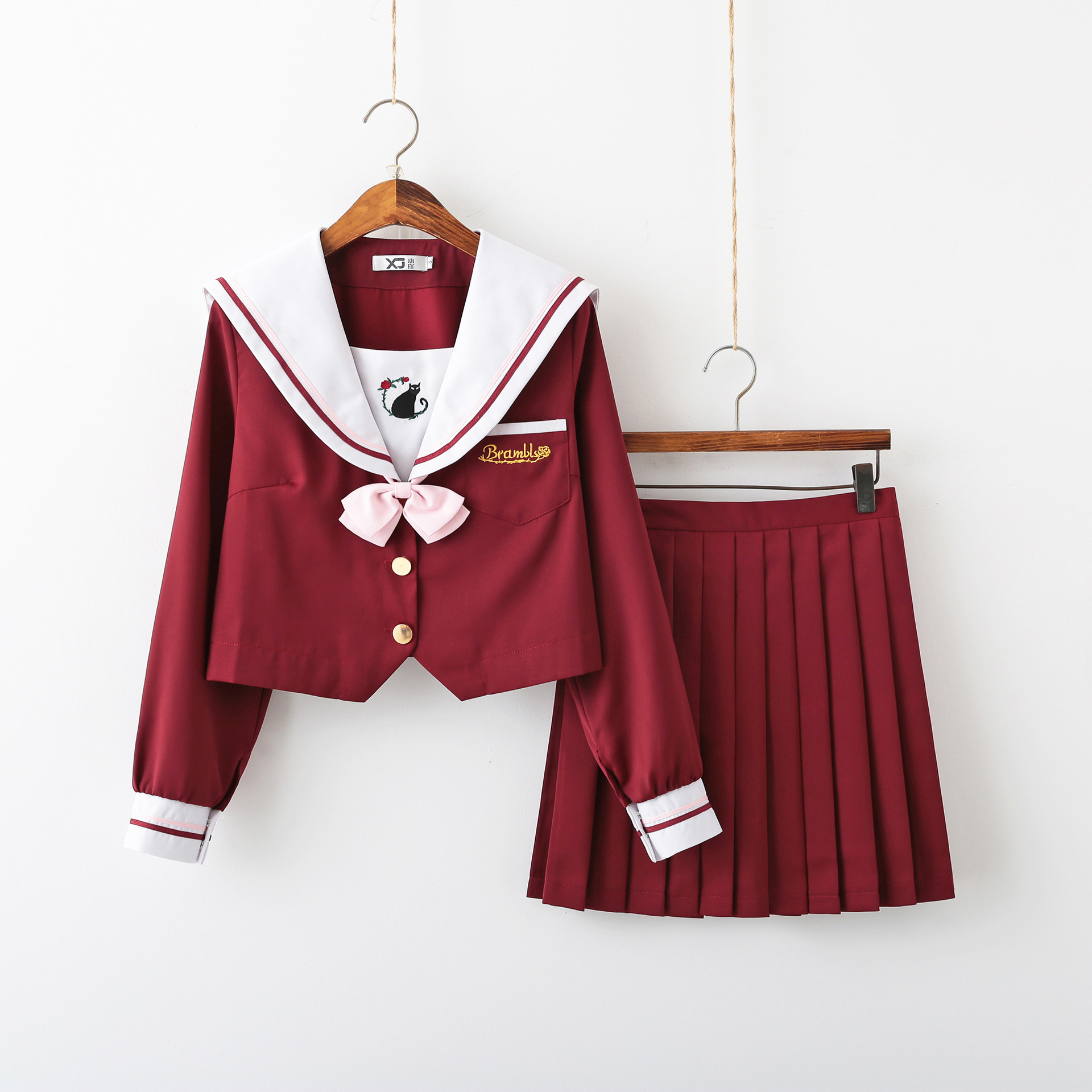 Student British Wind Uniform Suit Womens Cosplay Costume Sailor Jk Uniform Skirt