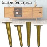 Pés verticais de aço inoxidável do sofá do tubo dos pés do ouro da mobília/inclinado para os pés do armário da tevê apoiam acessórios da mobília -