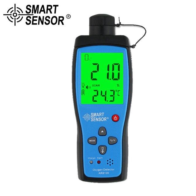 Ручной анализатор кислорода и газа, детектор O2, тестер, измеритель, монитор качества воздуха в помещении, термометр с сигнализацией, 0 30% AR8100