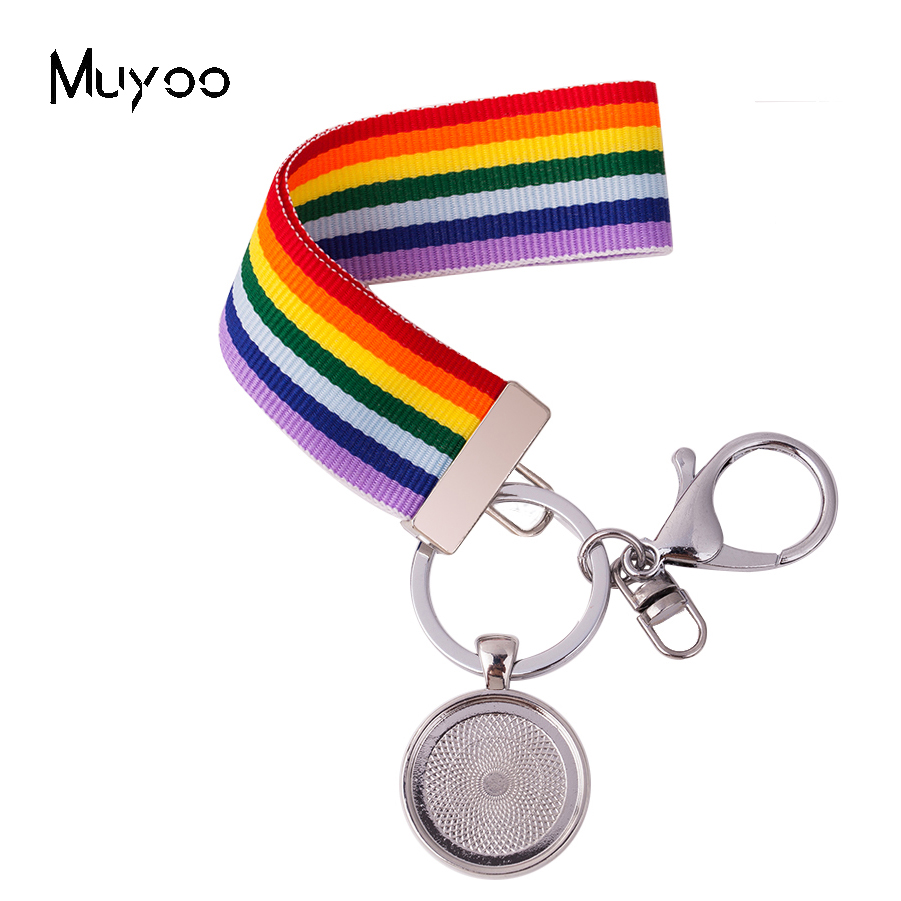 2019 New Arrival Colorful Ribbon Keychain Hand Craft Wrist Holders Ornaments Accessory