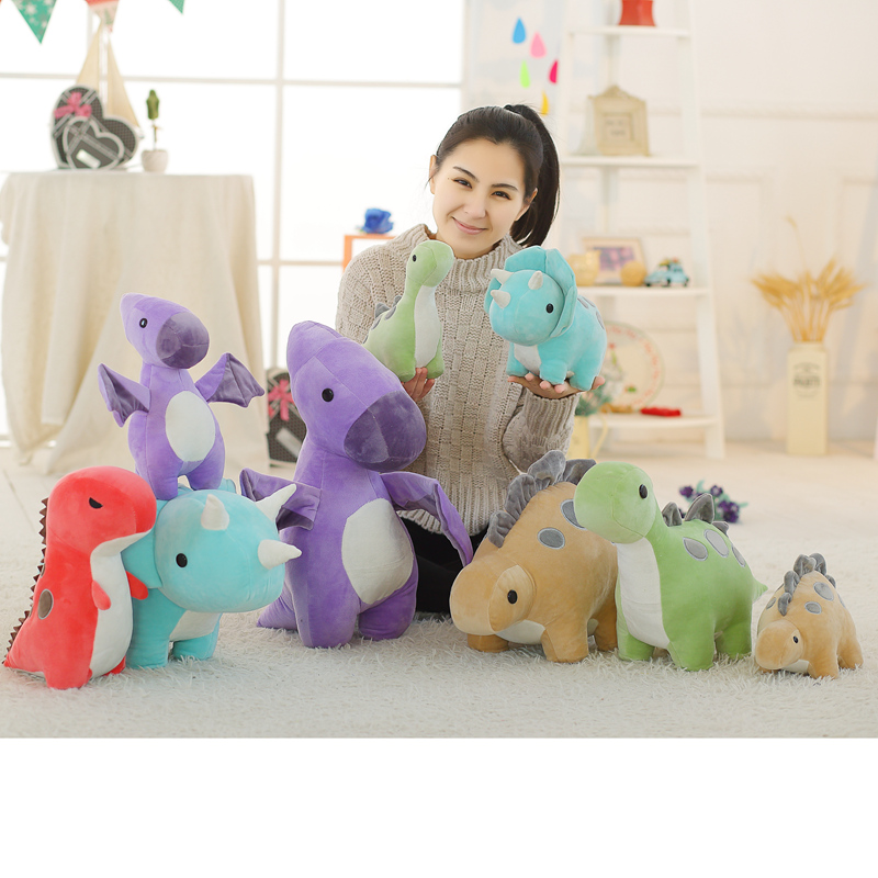 Soft Animal Cartoon Toy Cute Dinosaur Chameleon Tyrannosaurus Plush Toy Stuffed Lovely Kavaii Kids Plush Doll For Birthday Gift