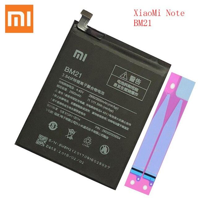 100% orijinal Xiaomi BM 21 not pil BM21 bm21 3GB RAM lityum polimer Bateria Bateria 3000mAh bm21 pil