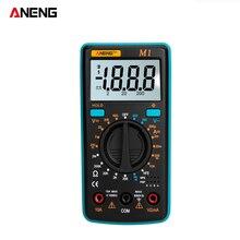 ANENG M1 Ручной цифровой мультиметр ЖК-дисплей подсветка Высокая точность AC/DC Напряжение Ток Сопротивление транзисторный тестер непрерывности