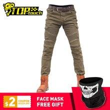 Pantalones vaqueros de Motocross para hombre, equipo de protección, Pantalones estilo motero #