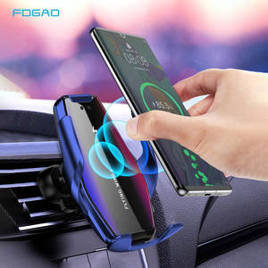 FDGAO Wireless-Charger Automatic-Clamping Phone-Holder For Samsung 15W Car Qi X XR XS