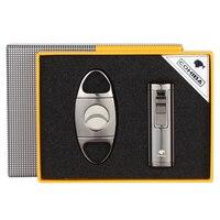 Cohiba Aansteker Gas Butaan 3 Torch Aansteker Rvs Guillotine Cigar Cutter Metal Travel Sigaar Accessoires Set-in Sigaar accessoires van Huis & Tuin op