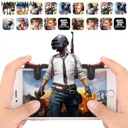 Универсальный 1 пара Джойстик контроллер триггера геймпад огонь цель мобильный телефон Тригер игра