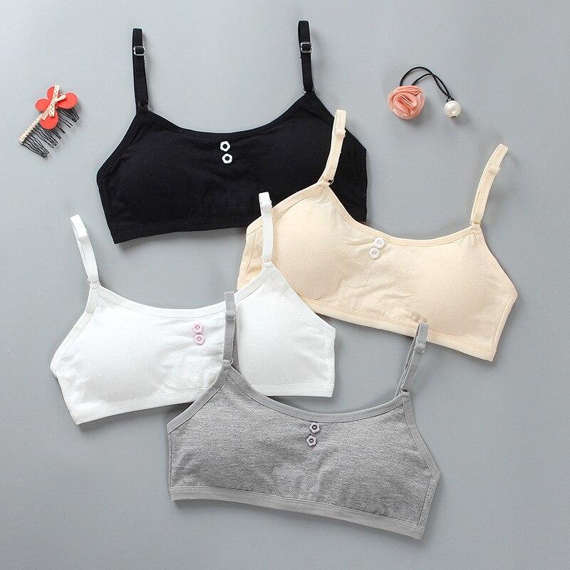 Bras for Teen Girls Kids Training Bras Tops teenager Underwear 9 Lingerie Undercloth Thin Strap Topic Sleeveless Vest Cotton 12