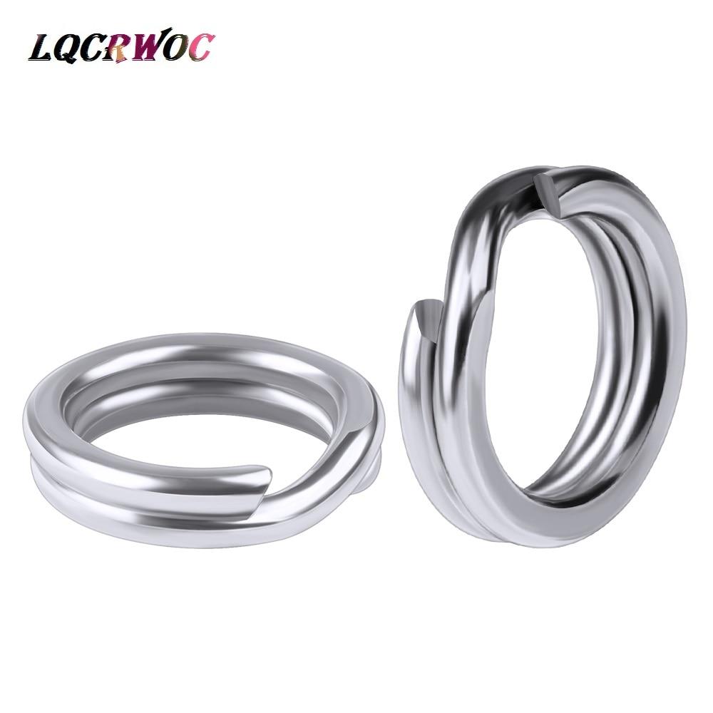 50pcs/bag Stainless Steel Fishing Rings Hook 3#/4#/5#/6#/7#8# Double Loop Split Tool Fishing Accessories Flat Rings Connector
