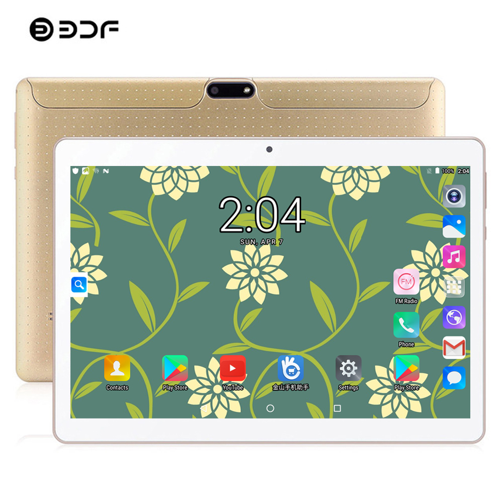 Russia USA Spain BDF Android Tablet 10 Inch 4GB/64GB Tablet Pc 3G Phone Dual SIM Card Android 7.0 Octa Core WiFi IPS Tablet 10.1