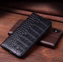 Luxury Genuine Leather Flip Case For Iphone Xs X Xr Cover Magnetic Max Cases Phone