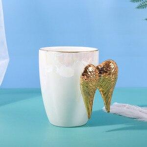 Image 2 - أجنحة الملاك أكواب القهوة أكواب من السيراميك وأكواب هاندالطلاء علامة الإبداعية درينكوير