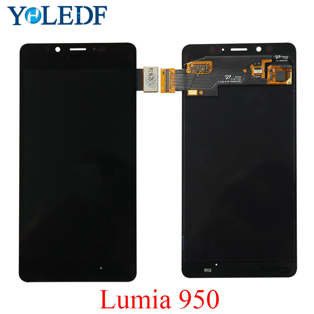 Original LCD For Nokia <font><b>Lumia</b></font> <font><b>950</b></font> RM-1104 RM-1118 LCD Display Touch Screen Panel Digitizer Assembly+Frame Replace <font><b>Parts</b></font>+tools set image