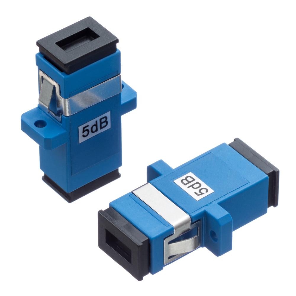5PCS/bag SC 3dB 5dB to 15dB  fixed type fiber optic Attenuator,flange type optical attenuator 5dB