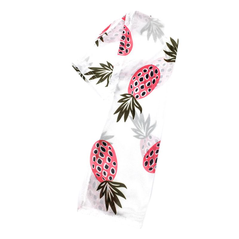 Kr Colored Cute Cartoon Avocado Fruit Print Arm Sleeves Cover Women Girl Summer Outdoor Cycling Cooling Sun Protection Glove