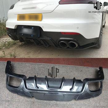High Quality Carbon Fiber Car body kit  Rear diffuser lip For Porsche Panamera 970 Car styling 14-17