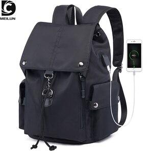 DC.meilun новый школьный рюкзак для мужчин, модная сумка, водоотталкивающая, дорожные рюкзаки, внешний USB зарядный женский школьный рюкзак a168