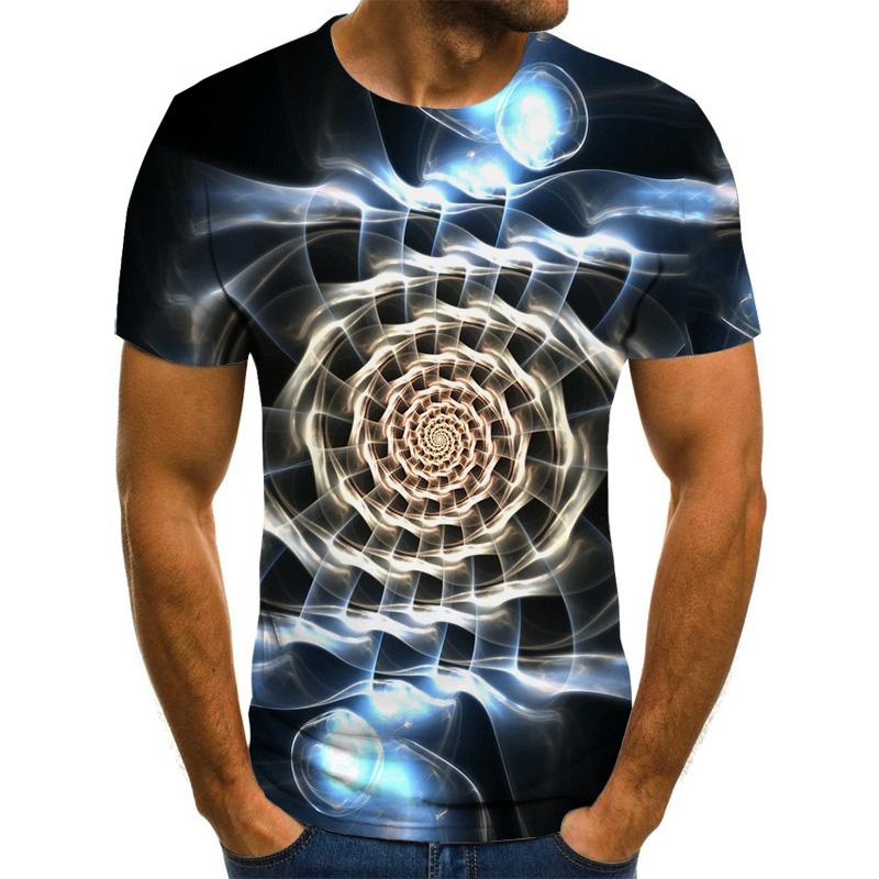 2020 new three dimensional graphic T shirt men's casual tops fun 3D men's T shirt summer O neck shirt plus size streetwear