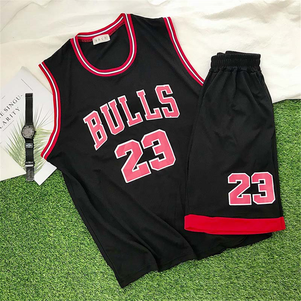 Trendy Classic Sports Suit Basketball Uniform Students Basketball Sportswear Casual Sports Suit Men Loose Vest Shorts Two Piece