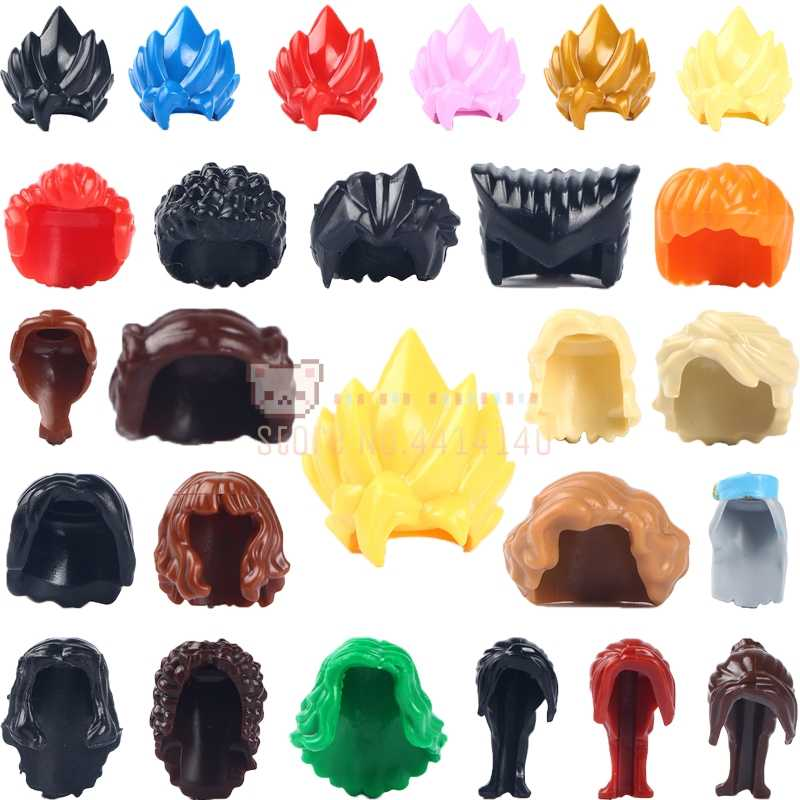 10PCS \ LOTTO Dragon Ball Honor Capelli Accessori Mattoni Anime Action Figure Building Blocks MOC Giocattoli Educativi Per I Bambini regali
