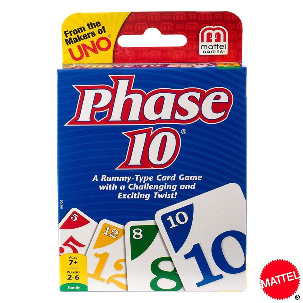 Mattel UNO 10 ква карточные игры Семья забавные развлечение настольная игра покер детские игрушки игральные карты