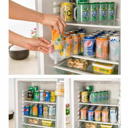 Kitchen Storage New Beers Soda Cans Holder Storage Kitchen Organization Fridge Rack Plastic Space