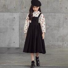 Skirt Set Polka-Dot Teen Girls Children Fashion Cute And Suspender Top Autumn -1053