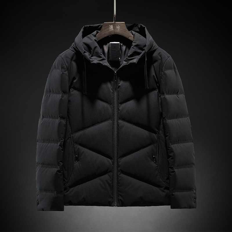 Зимние пуховики мужские s 90% белые пуховики на утином пуху мужские 2019 новые пуховики с капюшоном верхняя одежда мужские толстые пальто Bqb753