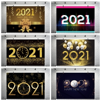 Yeele Photozone Photocall 2021 Happy New Year Photography Backgrounds Photographic Backdrop For Party Poster Photo Shoot Props