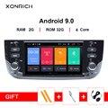 Xonrich Автомобильный мультимедийный плеер 1 Din Android 9 для Fiat/Linea/Punto evo 2012-2015 gps Навигация DVD стерео Automotivo радио DSP