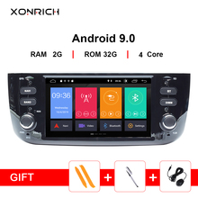 Xonrich Car Multimedia Player 1 Din Android 9 For Fiat/Linea/Punto evo 2012-2015 GPS Navigation DVD Stereo Automotivo Radio DSP android 8 0 car multimedia player 1din car radio gps stereo audio player for fiat grande punto linea 2012 2017 video mp5 player