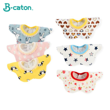 Baby bib petals 360-degree spinning three-layer waterproof cotton baby newborns Kindergarten use 28x28cm