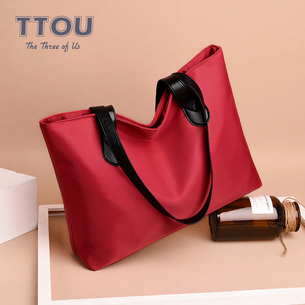Winter Spring Waterproof Causal Large Capacity Shoulder Bag Vintage Nylon Shopping Bags Totes Women Handbags Ladies Travel Bags