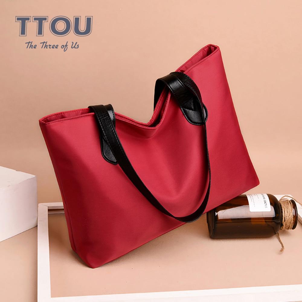 Winter Spring Waterproof Causal Large Capacity Shoulder Bag Vintage Nylon Shopping Bags Totes Women Handbags Ladies Travel Bags