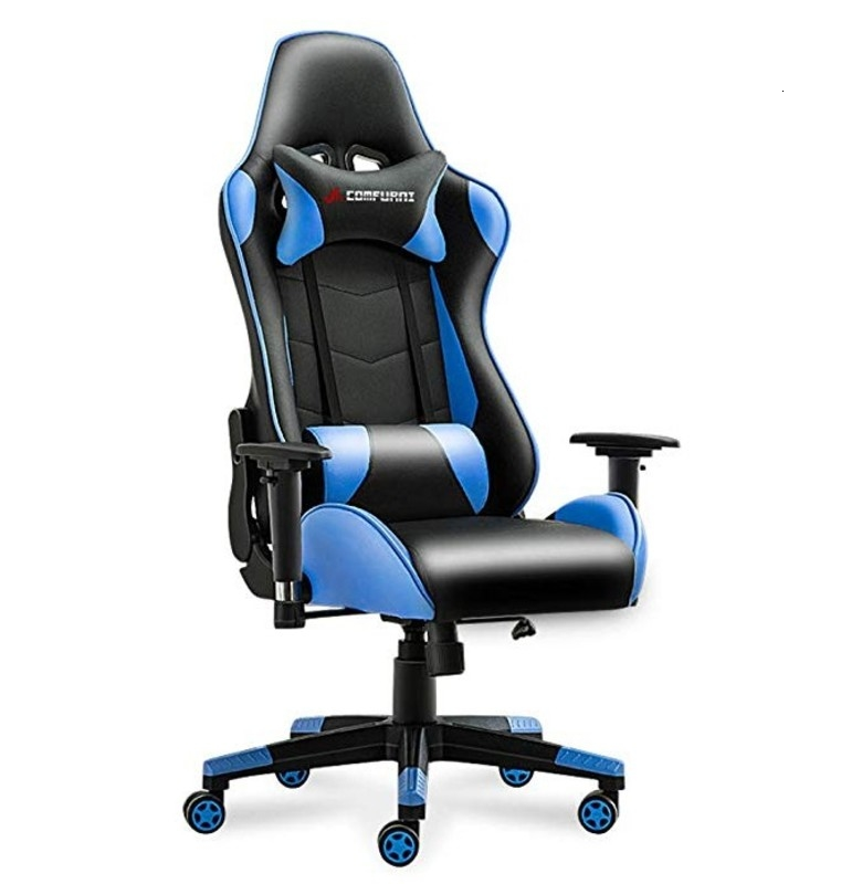 Gaming Chair Executive Office Reclining High-Back Ergonomic PU Leather Desk Racing Swivel Computer