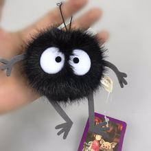 Plush Toys Faceless Male Totoro Small Pendant Toy Black Carbon Coal Ball Dust Elf Doll