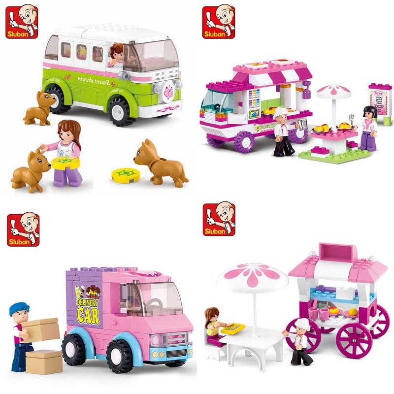 Girl Legoinglys Friends Snack Car Delivery Car Dining Car Travel Car Model Building Blocks Figure Toys For Children Christmas
